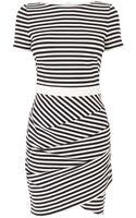 Karen Millen Stripe Tshirt Dress - Lyst