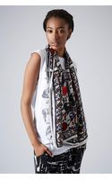 Topshop Paisely Floral Scarf - Lyst