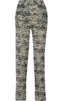 Isabel Marant Edilon Printed Chiffon Tapered Pants - Lyst