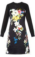 Erdem Onassis Velasquez Night-print Silk Dress - Lyst