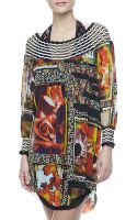 Jean Paul Gaultier Floral-print Long-sleeve Coverup - Lyst
