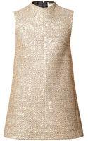 Saint Laurent Sequined Tweed Mini Dress - Lyst