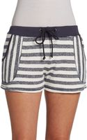 C&c California Striped French Terry Shorts - Lyst