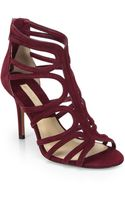 Michael Kors Norma Strappy Suede Sandals - Lyst