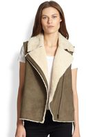 Vince Lamb Shearling Motorcycle Vest - Lyst