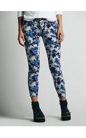 Free People Fp Printed Cord Skinny Jeans - Lyst