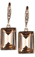 Givenchy Crystal Small Square Drop Earrings - Lyst