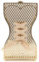 Charlotte Olympia Tight Laced Goldtone Clutch - Lyst