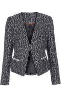 Topshop Boucle Zip Blazer  Black - Lyst