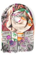 Etro Maxi Floral and Paisley Print Scarf - Lyst