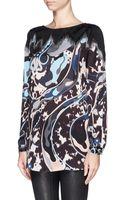 Emilio Pucci Lurex Jacquard Print Silk Tunic - Lyst