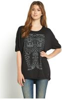 Replay Oversized Printed Tee - Lyst