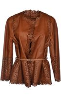 Ermanno Scervino Leather Outerwear - Lyst