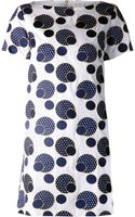 Suno Embroidered Polka Dot Dress - Lyst