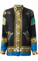 Versace Vintage Polo Print Baroque Shirt - Lyst