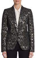 Michael Kors Metallic Brocade One-button Jacket - Lyst