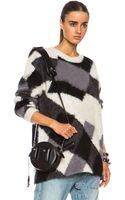 McQ by Alexander McQueen Crew Neck Oversized Mohair Blend Sweater - Lyst
