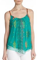 Twelfth Street By Cynthia Vincent Silk Leatherstrap Camisole - Lyst