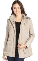 BCBGeneration Camel Light Weight Quilted Anorak - Lyst