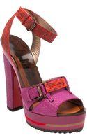 Lanvin Platform Sandal - Lyst