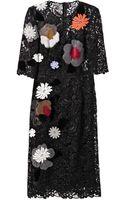 Dolce & Gabbana Embellished Macramélace Dress - Lyst