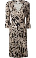 Diane von Furstenberg Printed Wrap Dress - Lyst