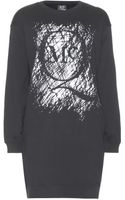 McQ by Alexander McQueen Printed Cotton Sweater Dress - Lyst