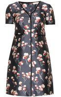 Tory Burch Kenzie Floral-print Silk Dress - Lyst