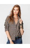 Denim & Supply Ralph Lauren Plaid Tomboy Shirt - Lyst