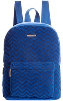 Rampage Chevron Printed Suede Backpack - Lyst