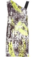 River Island Lime Splash Print Asymmetric Tunic - Lyst