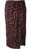 Helmut Lang Printed Twisted Knot Skirt - Lyst