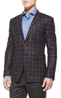 Paul Smith Plaid Quilted Navy -jacket - Lyst