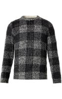 Rag & Bone Theo Melange-check Sweater - Lyst