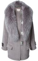 Jason Wu Trimmed Collar Silvertone Hardware Quilted Lining Coat - Lyst