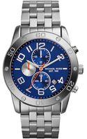 Michael Kors Mens Chronograph Mercer Stainless Steel Bracelet Watch 45mm - Lyst