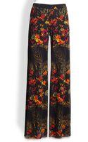 Jean Paul Gaultier Floral Print Tulle Pants - Lyst