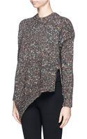 Stella McCartney Mélange Wool Silk Sweater - Lyst