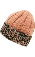 Missoni Pink Rib Knit Beanie Hat - Lyst