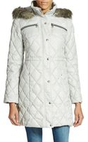 Guess Three-quarter-length Insulated Coat - Lyst
