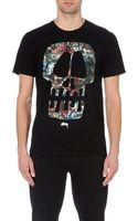 Stussy Skull-print Cotton-jersey T-shirt - Lyst