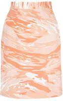 Mother Of Pearl Vida Heavy Silk Knee Length Skirt - Lyst