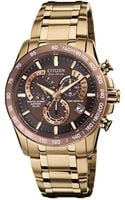 Citizen Mens Ecodrive Perpetual Chrono At Rose Goldtone Stainless Steel Bracelet 42mm 52x - Lyst