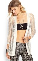 Forever 21 Open Knit Cardigan - Lyst
