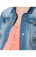 Jessica Simpson Maternity Distressed Denim Jacket - Lyst