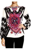 Emilio Pucci Top Long Sleeve Silk Print Suzani - Lyst