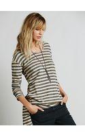Free People Long Sleeve Stripe Tunic - Lyst