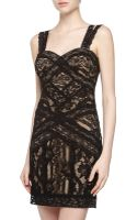 Nicole Miller Sleeveless Fitted Lace Dress  - Lyst