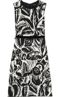 Marc Jacobs Embroidered Printed Taffeta Dress - Lyst