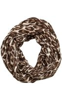 Kate Spade Autumn Leopard Infinity Scarf - Lyst